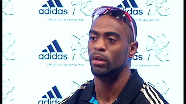 Tyson Gay press conference Tyson Gay press conference SOT Tyson Gay question and answer session SOT Half full press conference