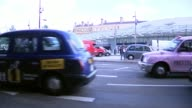 Uber loses licence to operate in London City Hall EXT Sadiq Khan interview SOT Various shots traffic and black cabs along Vox pops taxi drivers Woman...
