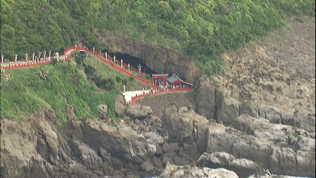 Udo shrine and stairs around it.