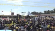 Ugandas ruling NRM party holds a victory celebration in central Kampala two months after elections that saw President Yoweri Museveni win a fifth...