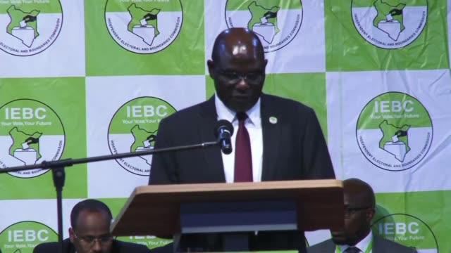 Uhuru Kenyatta wins disputed Kenya elections with 982 percent announces IEBC chairman