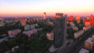 Ukraine, Kiev, aerial view from Sportivnaya square