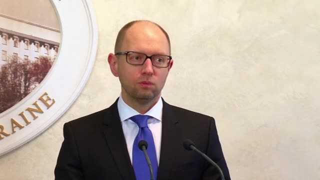 Ukraines Prime Minister Arseniy Yatsenyuk says in a televised address that he has decided to resign less than two months after surviving a no...
