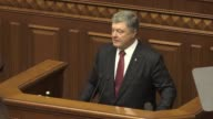 Ukrainian President Petro Poroshenko laid out Thursday Kiev's terms for sending a UN mandated force to conflict hit east Ukraine knocking back key...