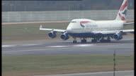 777 Ultra marathon runners complete gruelling global run LOCATION British Airways Boeing 747 taking off ends