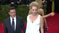 Uma Thurman and Andre Balazs at 'China Through The Looking Glass' Costume Institute Benefit Gala Arrivals at Metropolitan Museum of Art on May 04...