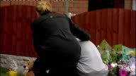 Uncle of 4yearold boy mauled to death by illegal pitbull released on bail TX Merseyside Liverpool Wavertree EXT Christian Foulkes laying flowers...