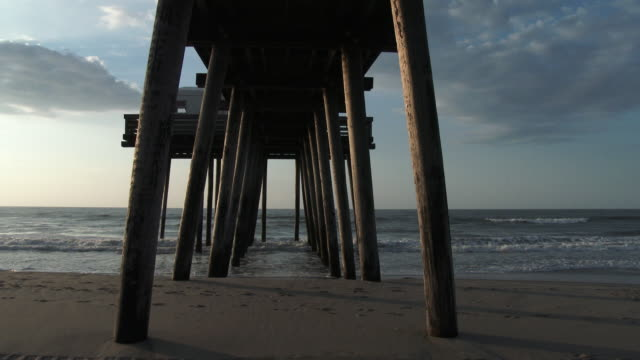 Under A Pier along the Ocean