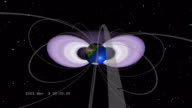 Under the wave of energetic particles from the Halloween 2003 solar storm events, the Earths radiation belts underwent significant changes in structure.