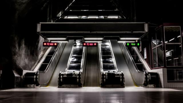 Underground Rolltreppen Zeitraffer