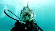 Unterwasser selfie
