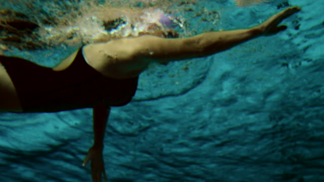 Underwater shot of a female swimmer