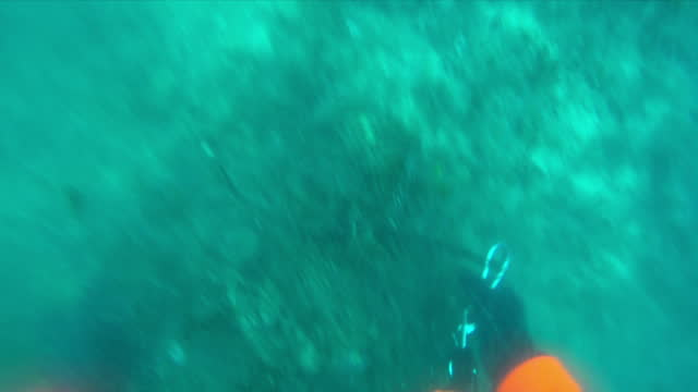 Underwater shots as a diver attaches markers to pieces of lost or discarded fishing equipment on the seabed off the coast of Malta n October 03 2017...