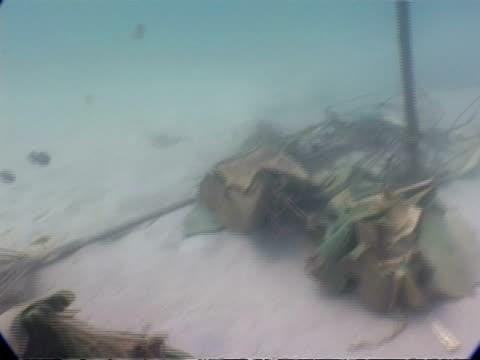 MS underwater view of 2004 tsunami debris, Phuket, Thailand