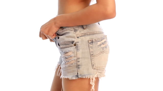 Undressing jeans