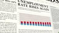Unemployment Rate Newspaper Headline News