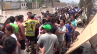 Unexpected heavy rainfall cause deadly flood in Lima Peru on March 16 2017 Huaycoloro River overflowed after three days long heavy rainfall and...
