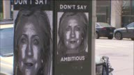 Unflattering antiHillary posters were put up in downtown Brooklyn on Sunday night a few hours after she formally announced her presidential...