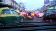 Unfocused blured of Vehicles Stuck In The Traffic