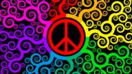 Vielmehr Peace-Zeichen mit bunten Wirbel (zwei Versionen)
