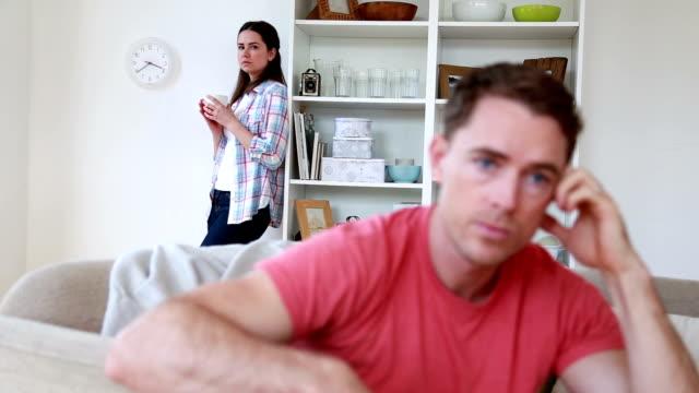 Unhappy Couple At Home