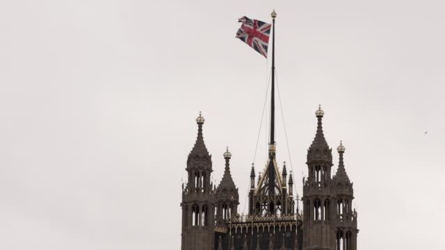 Union Jack Flying Over The Palace of Westminster