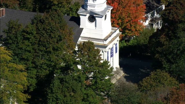 Unitarian Church  - Aerial View - Massachusetts,  Middlesex County,  United States