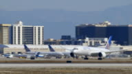 United Airlines Boeing-787 takes off from LAX, daytime