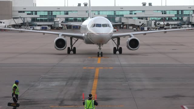 United Airlines planes and ground operations at Denver International Airport on June 15 2013 in Denver Colorado