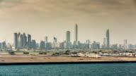 United Arab Emirates, Abu Dhabi, Harbour, port. Background city skyline