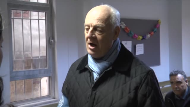 United Nations envoy on the Syrian crisis Staffan de Mistura visits the Association for Solidarity with Asylum Seekers and Immigrants after his...