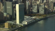 WS ZI United Nations Headquarters and East River / / New York City, New York, USA