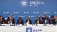 United Nations Secretary General Antonio Guterres speaks during the London Somalia Conference in London on May 11 2017 More than 20 heads of state...