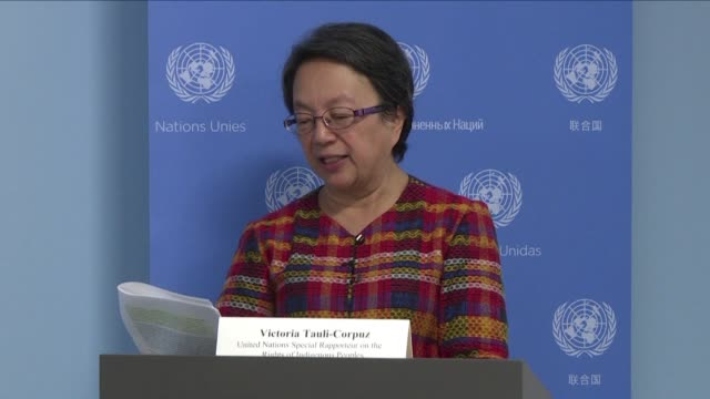 United Nations Special Rapporteur on the Rights of Indigenous Peoples Victoria Tauli Corpus says she is deeply concerned by the executive order...