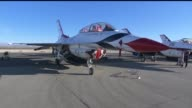 KTLA United States Air Force Thunderbirds preview for the Los Angeles Air Show on March 20 2015 The Thunderbirds Squadron tours the United States and...
