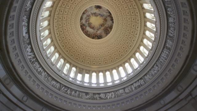 United States Capitol Rotunde in Washington, DC - 4k/UHD