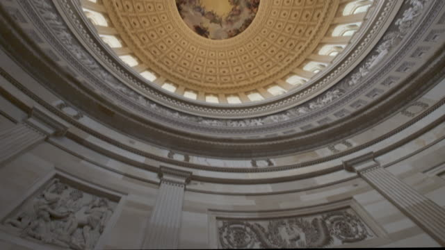 United States Capitol Rotunda in Washington, DC - 4k/UHD