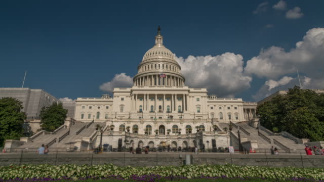 United States Capitol West in Washington, DC - Zoom in - 4k/UHD