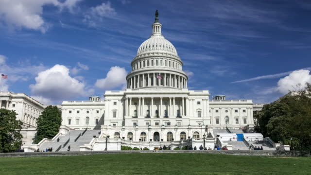 United States Capitol West Lawn in Washington, DC -Time Lapse