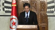 United States Deputy Secretary of State Tony Blinken gives a speech during a press conference after he meets with Tunisian Prime Minister Habib Essid...