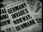 Americans and Englishmen demonstrate concern as Germany invades Denmark