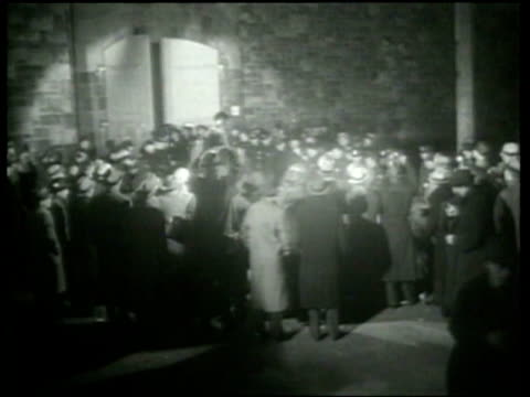 Reporters broadcast the news that Bruno Hauptmann the Lindbergh kidnapper was executed in the electric chair