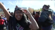 KTVI University of Missouri Campus Protesters Celebrate After Learning System President Tim Wolfe Resigned in Columbia Missouri on November 9 2015