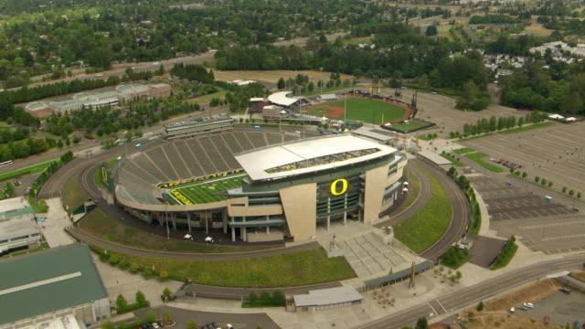 WS AERIAL DS University of Oregon Autzen Stadium / Oregon, United States