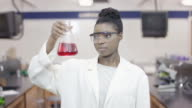 University Student studying in a science lab