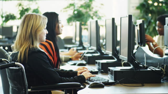 University Students using computer lab