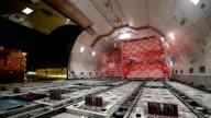 Unloading Cargo Airplane