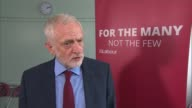 Unrest continues / Jeremy Corbyn condemns violence ENGLAND West Sussex Crawley INT Jeremy Corbyn MP interview SOT What I condemn is the violence...