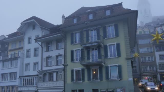 Untere Schleuse and River Aare, Thun, Jungfrau region, Bernese Oberland, Swiss Alps, Switzerland, Europe