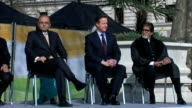 Unveiling of Mahatma Gandhi statue / CUTAWAYS ENGLAND London Parliament Square Echo throughout this clip*** DAvid Cameron MP arriving with others /...